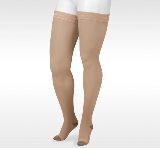 Juzo 2061 Silver Soft Open Toe Knee Highs 20-30 Mmhg Reg Medical & Mobility